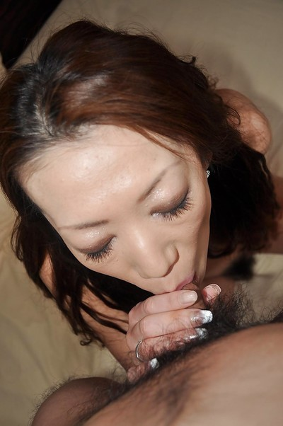 Chinese MILF Ryoko Matsuzaka gives a proper oral sex and acquires shagged massive