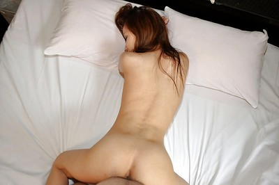 Saucy eastern infant Michie Maruo attains her slit plugged and creampied