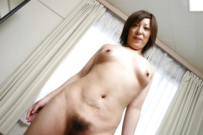 Appealing eastern MILF Kimiko Ogata showcasing her fuckable changes direction exactly after shower
