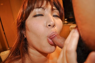 Juggy oriental MILF Kumi Shibahara gives a titjob and acquires her bushy cum-hole nailed