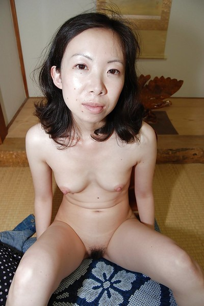 Shy Japanese MILF undresses down and has some love-cage fingering and vibing enjoyment