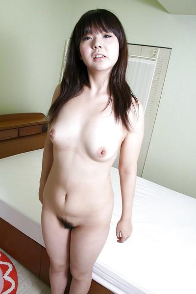 Smiley oriental queen Kaoru Kuriyama exposing her  gash in close up