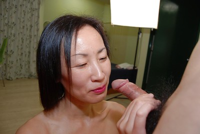 Horny Japanese lady benefits from her face absolutely glazed with cock juice later hardcore fucking