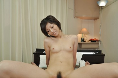 Japanese MILF Chiaki Sugai acquires her trimmed wet crack cocked up and creampied