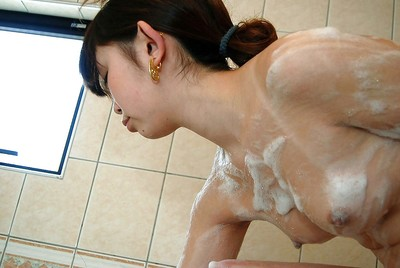Japanese infant Manami Igawa makes known her goods even as exquisite shower and shower