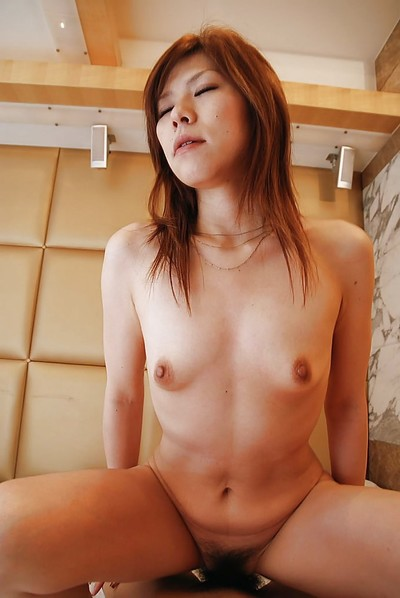 Chinese MILF Yasuko Miyawaki benefits from her  wet crack slammed and creampied