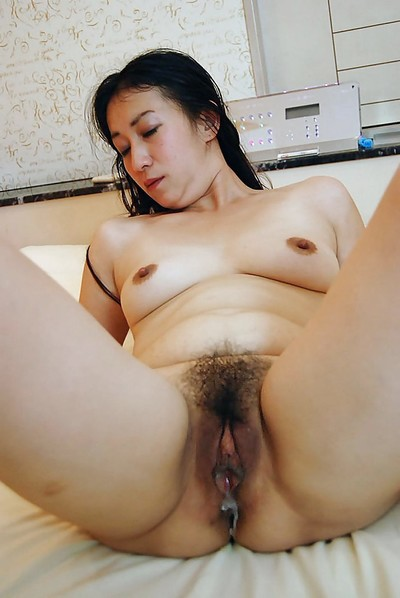 Oriental lassie Fumie Inada purchases her wavy cunt boned-up and creampied