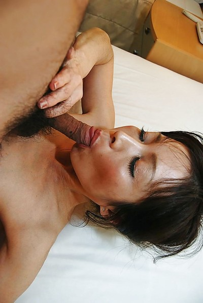 Lusty Chinese MILF Mayumi Miyazaki gains screwed and takes spunk on her face