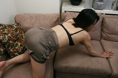 Shy Japanese MILF with saggy billibongs Miki Ohnuma getting unclothed
