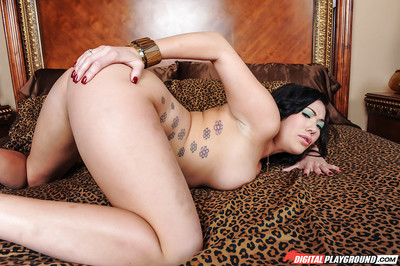 Boobsy Oriental dear London Keyes playing with wonderful mammoth common titties