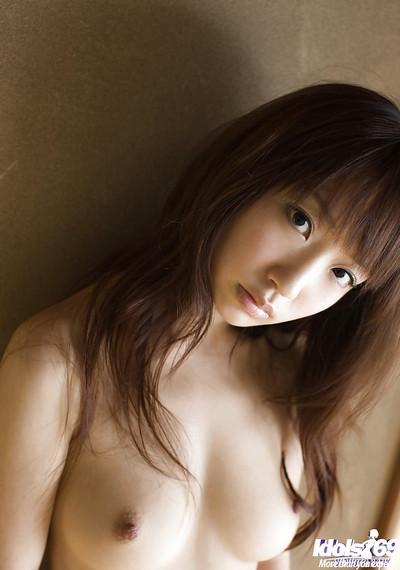 Elegant eastern juvenile Hina Kurumi showcasing her graceful body