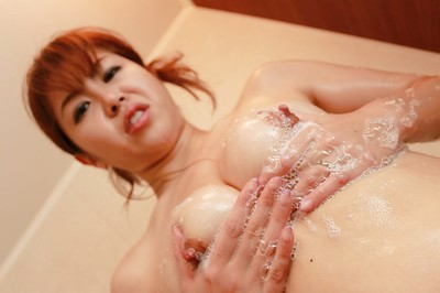 Seductive Chinese MILF with marvelous love melons Yuriko Hiratsuka delightsome shower-room
