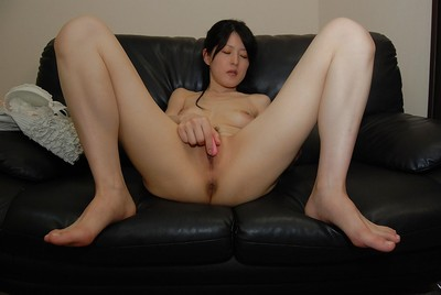 Eastern lady Satomi Fujiki attains unclothed and enjoys bawdy cleft toying deed