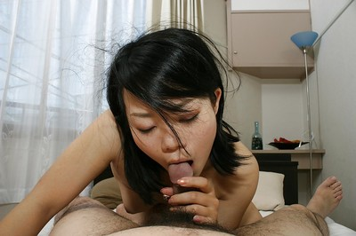 Japanese MILF Tomoe Asai gives head and receives her unshaved cum-hole slammed massive