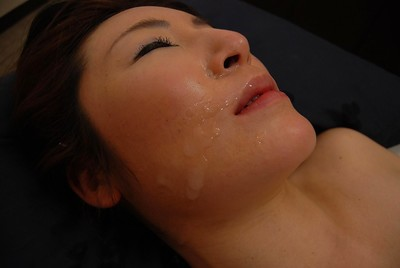 Eastern MILF Chiho Sakurai accepts her unshaved gash vibed and cocked up