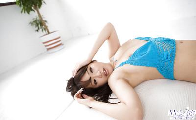 Breasty Chinese hottie on high heels Mai Nadasaka erotic dancing off her clothing