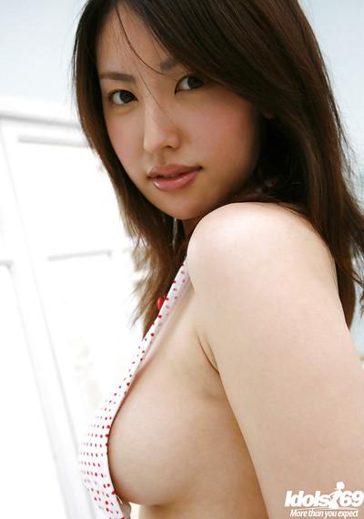 Extreme eastern cutie wirh sweaty wazoo Takako Kitahara erotic dance off her underware