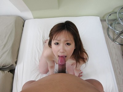 Eastern young gives a corporeal facefucking and obtains screwed for cage of love creampie
