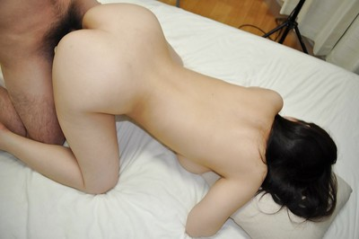 Oriental adolescent Kasumi Ayano gives a tit and cocksucking and enjoys zealous smoking