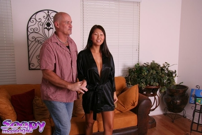 Eastern massage provider Beti Hana takes shower with frisky stick