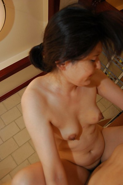 Lusty oriental MILF with hirsute cum-hole purchases bonked and facialized
