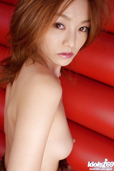 Bawdy Chinese model with unshaven cooter Ray Ito posing in underclothes