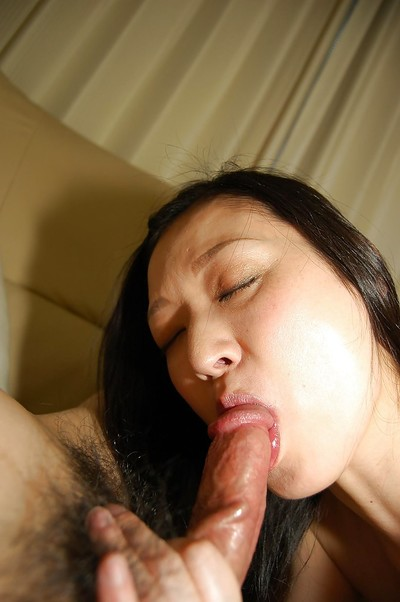 Lusty oriental girl gives a devoted oral sex and gains her wavy gash slammed