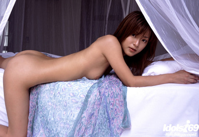 Appealing Japanese juvenile hottie Madoka Ozava erotic dance and posing on the ottoman