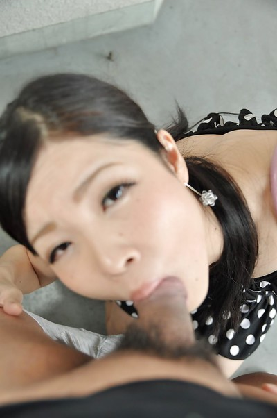 Chinese juvenile Mana Kikuchi gives head and benefits from throat total of creamy sperm