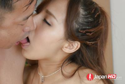 Japanese teenager Yukina Momota riding schlong in hardcore love making act scene