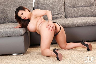 Fatty Japanese with giant meatballs Tigerr undressing her rigid stout body