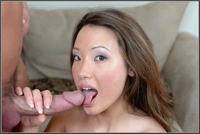 Lovely Chinese cutie Miko Sinz got her cunt bonked and gulped spunk