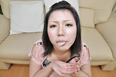 Chinese MILF Aya Uchiyama gobbles a firm wang and takes gorge intact of cream