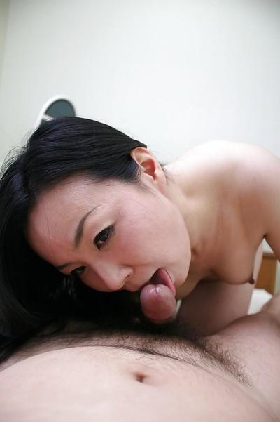 Takako Nishazawa gives a cocksucking and obtains her  muff drilled severe