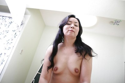 Takako Nishazawa gives a cocksucking and obtains her  muff drilled severe