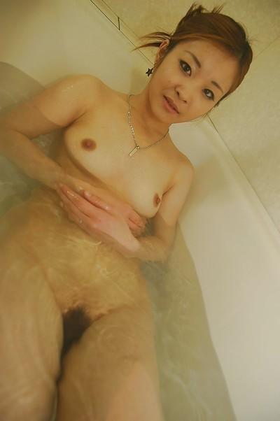 Slippy oriental lass with wavy wet crack Chie Kudou glorious washroom and washroom