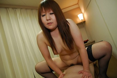 Unconventional oriental MILF in nylons has some facesitting and snatch very enjoyment