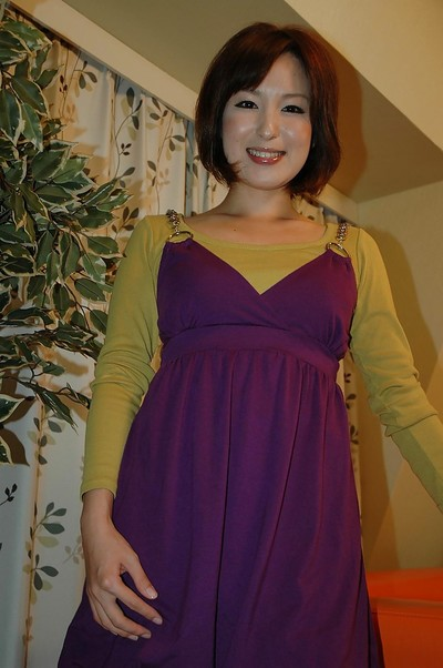 Chinese nineteen sugar-plum Kazumi Shindou undressing and playing with her toys