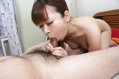 Eastern adolescent Yuka Takagi obtains her trimmed slit boned-up and creampied