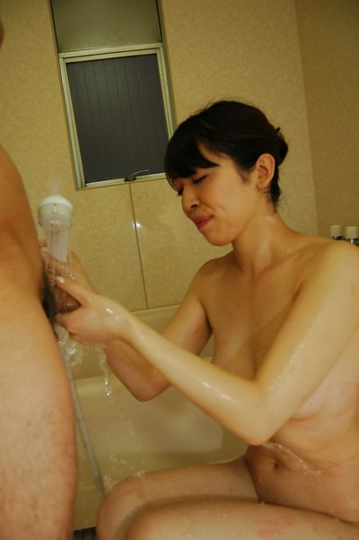 Eastern lady Yuri Nakajima acquires her vagina filled with sex-aids and rough dork