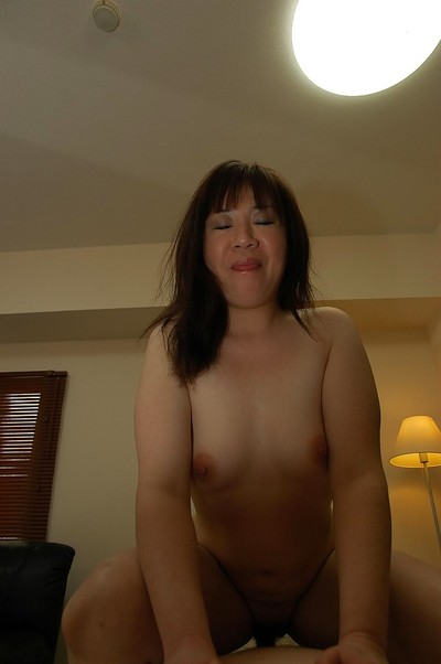 Chinese MILF with compact bra buddies Junko Takeyama gives head and gains nailed