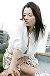 Unbelievable Japanese hotty with advisable bazookas and  wet crack erotic dancing off her clothing