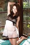 Excellent long-haired Chinese darling uncovering her enjoyable bends over