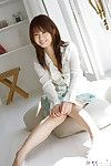 Marvelous oriental pretty in miniskirt uncovering her delicious bends over