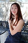 Youthful posing scene with a perspired Eastern youthful in fixed shorts Heidi Ho