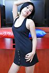 Asian youthful Joana stretching Asian love-cage in intense close ups