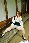 Chinese teen Yamazaki Akari revealing her raw zeppelins and wavy gentile