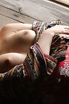 Loveable Japanese doll Adusa Kyono uncovering her mini melons