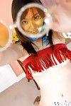 Cold-blooded Japanese juvenile lass Hikaru Koto erotic dancing and having joy