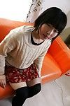 Spiteful oriental amateur Kasumi Miyata getting uncovered and amplifying her legs